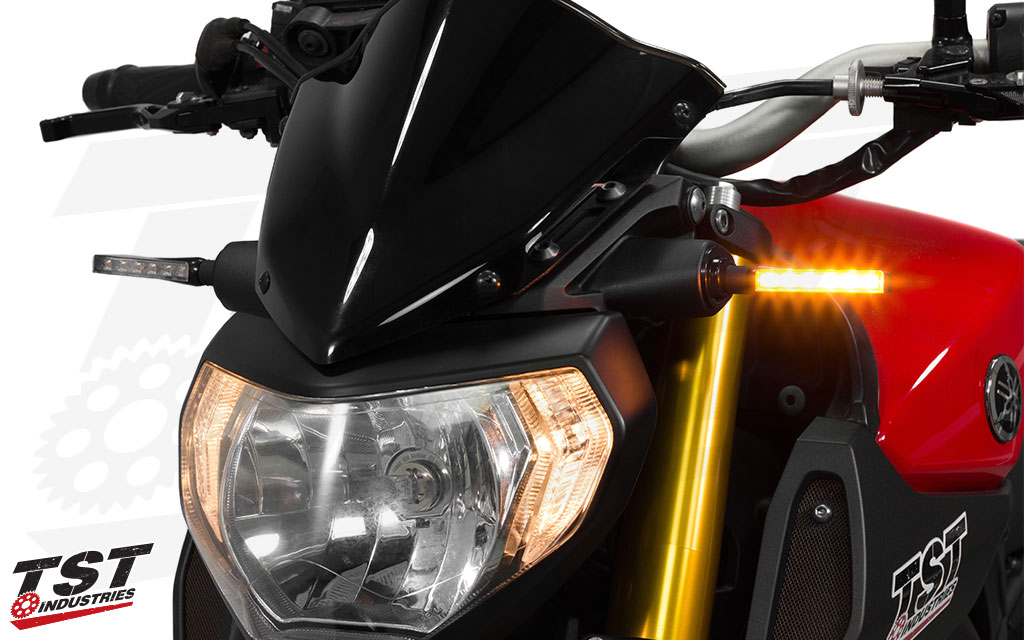 Each BL6 turn signal features 6 super bright SMD style LEDs that provide incredible light output.