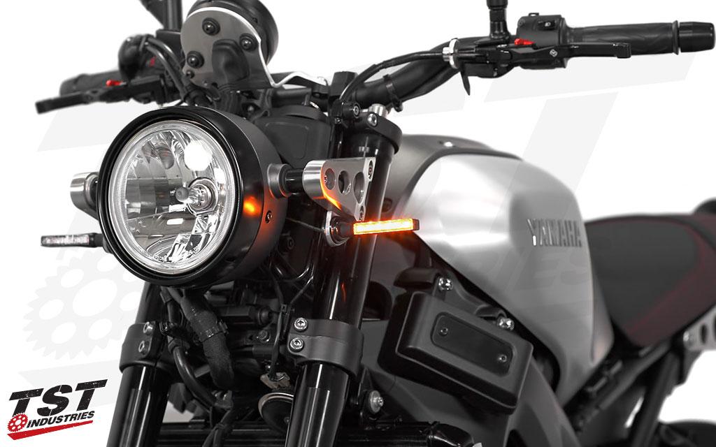 BL6 LED Pod Turn Signals shown on the Yamaha XSR900.
