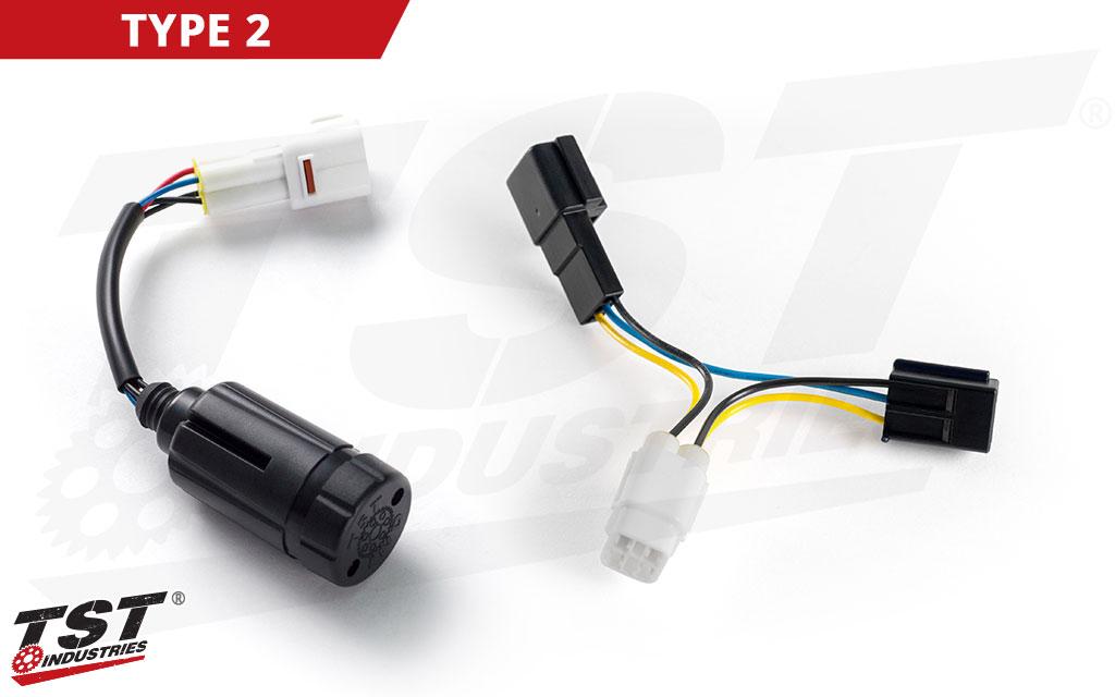 TST Brake Light Modulator for Select Suzuki OEM Tail Lights - TYPE 2 Shown