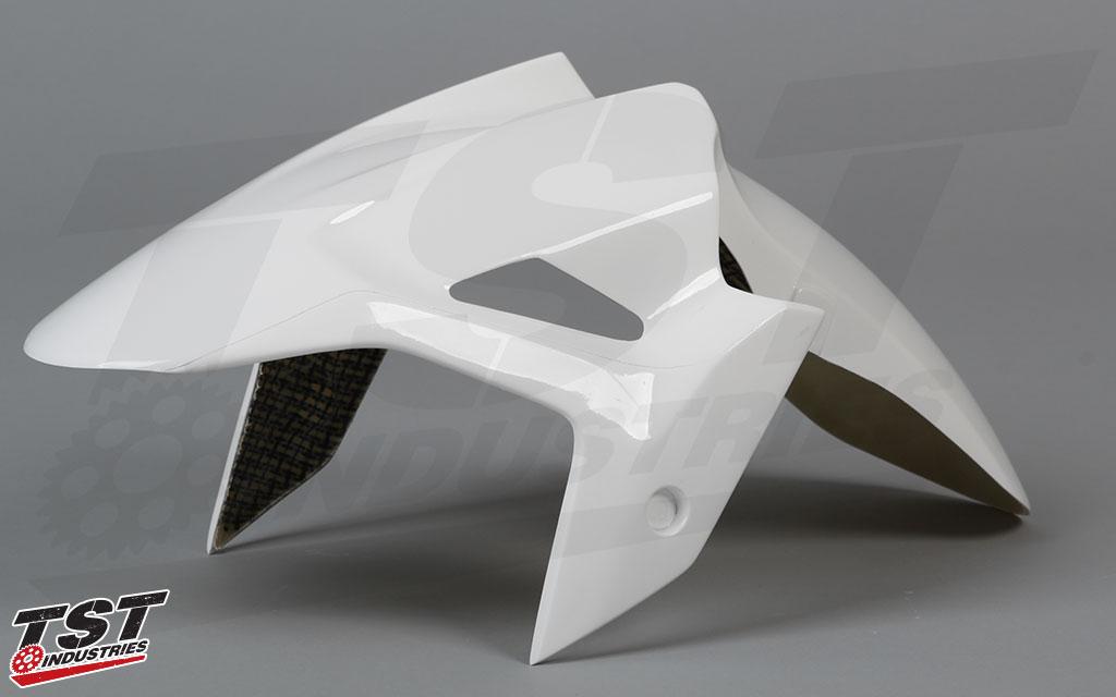 Get your Kawasaki Ninja 400 race ready with the lightweight Race Front Fender from Bikesplast.