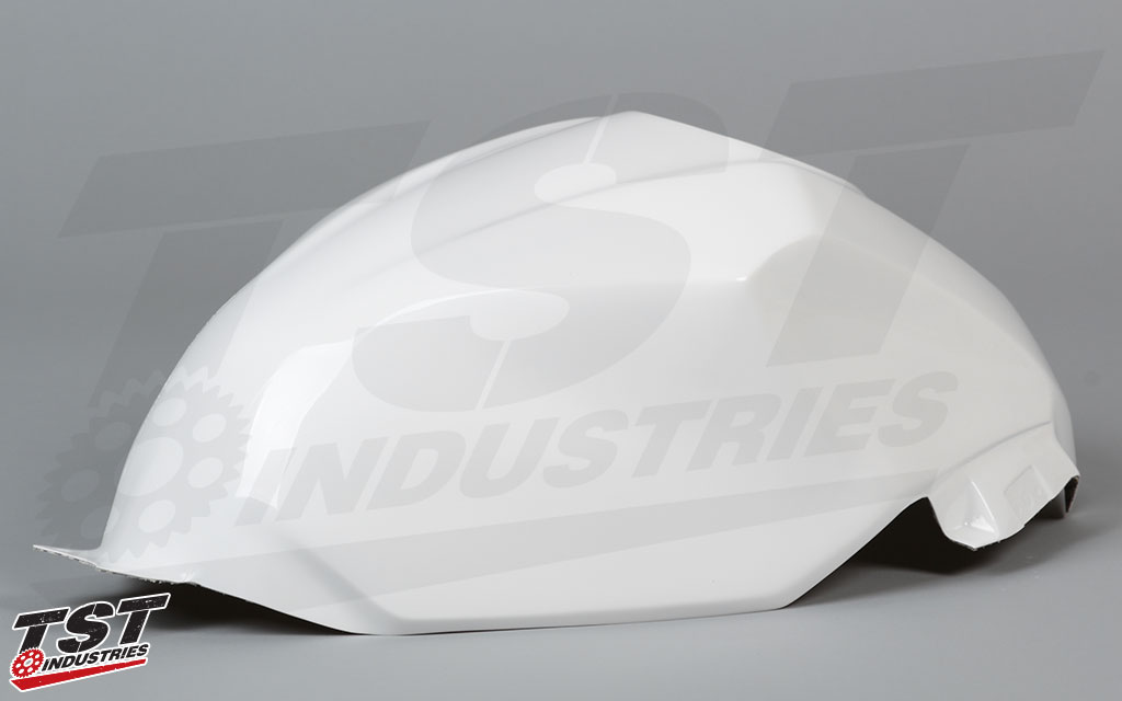 Add to your Kawasaki Ninja 400 Bikesplast race fairing setup with the high quality Race Tank Cover.