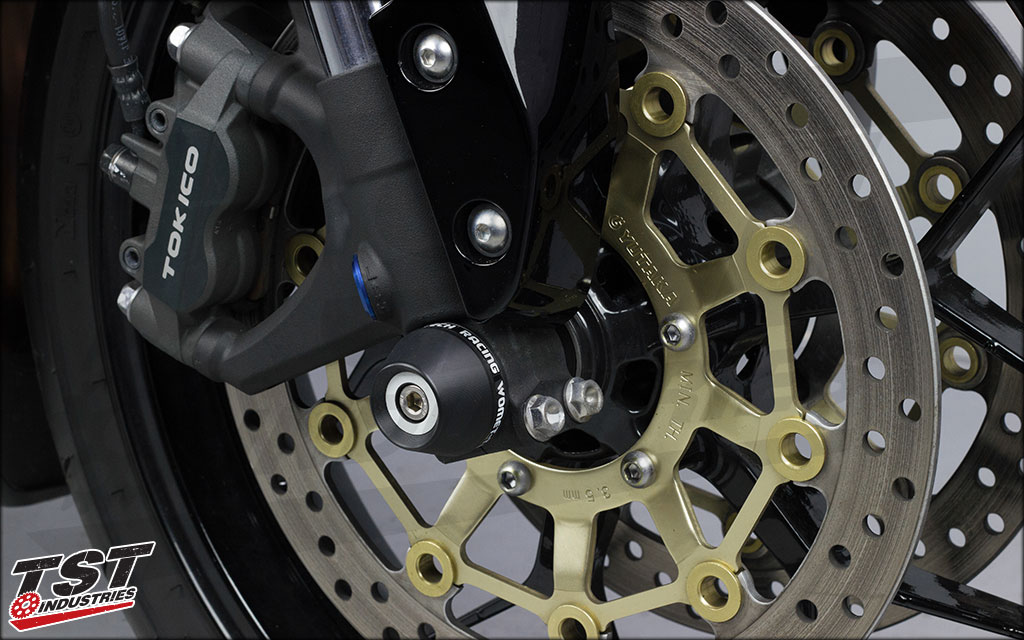 This robust protection element installs easly on any 2005+ Honda CBR600RR.