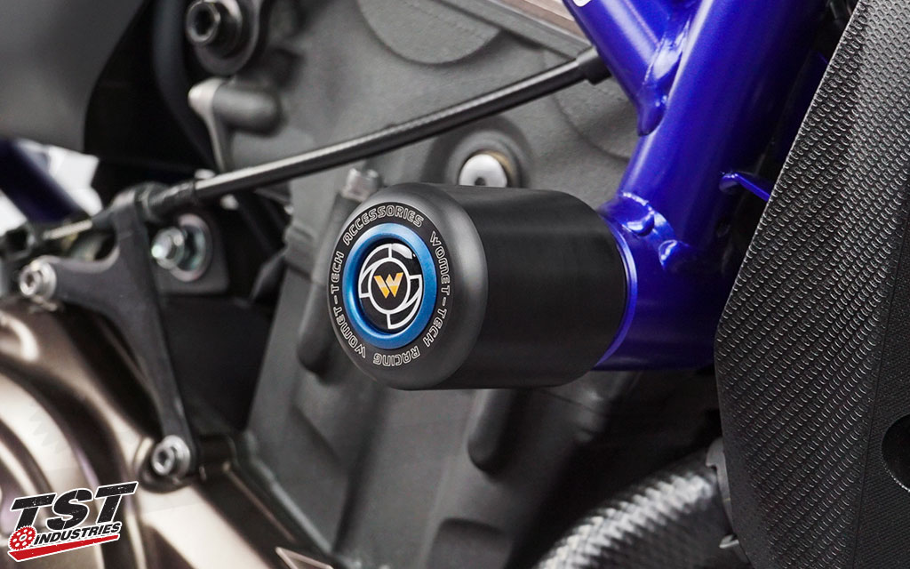 Customize your Womet-Tech Frame Sliders or Engine Protectors with a color that suits your ride!