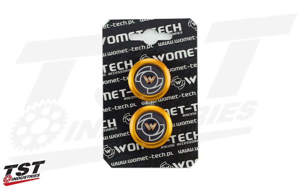 Gold Womet-Tech Slider Caps