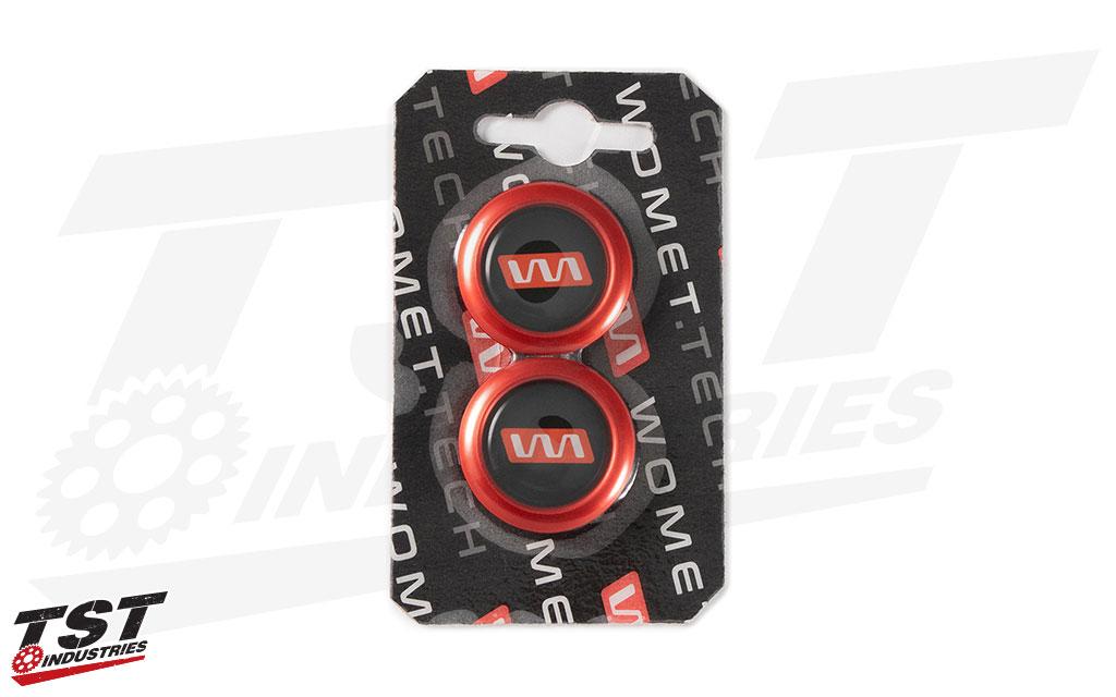 Red Womet-Tech Slider Caps