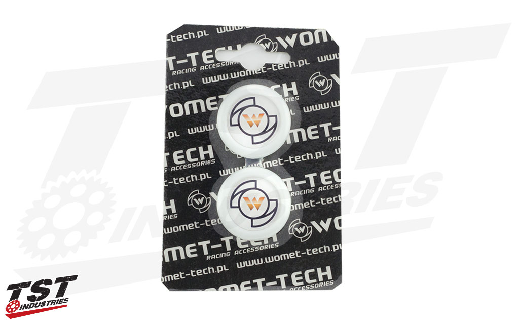White Womet-Tech Slider Caps