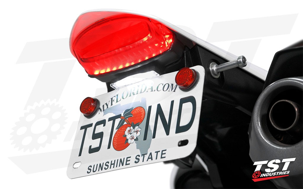 Bright LEDs and works great with the LED Low-Profile License Plate Light (sold separately).