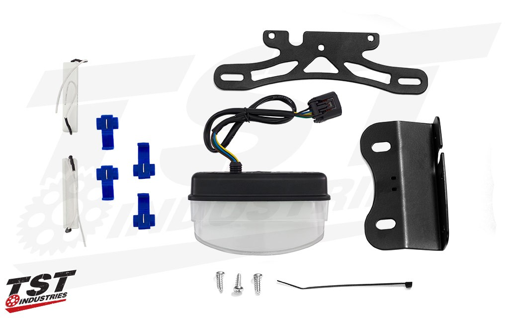 What's included in the TST Industries LED Integrated Tail Light and Fender Eliminator kit for Honda CRF250L / Rally.