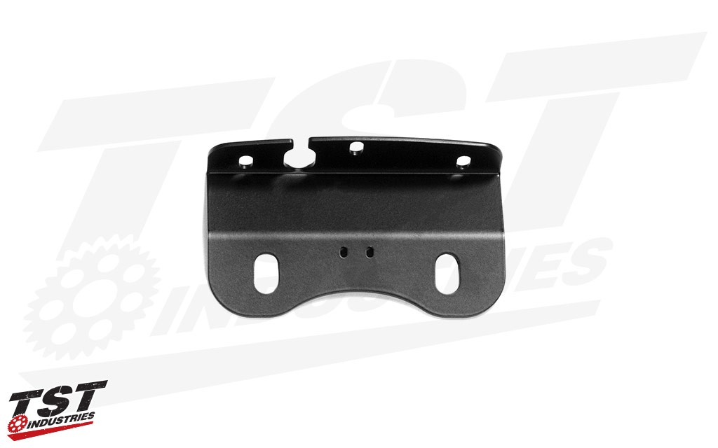 CNC machined components feature a durable black powder coat finish.