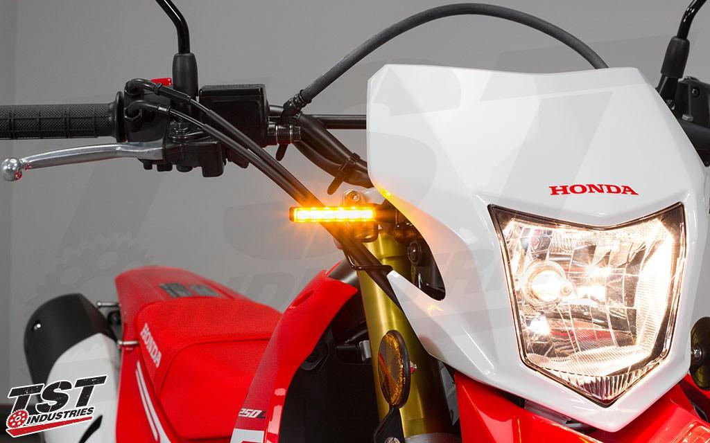 TST LED BL6 pod turn signals offer a sleek and modern signal solution.