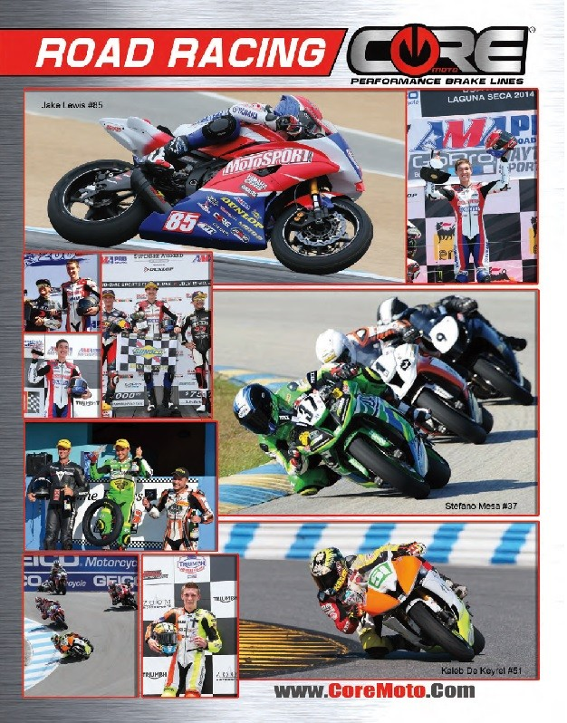Core Moto Road Racing Sponsorships.