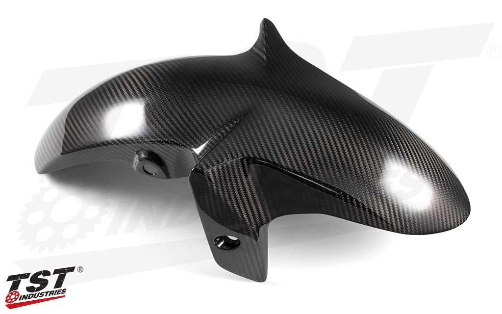 TST Industries Twill Carbon Fiber Front Fender for the 2015 - 2018 Yamaha YZF-R3