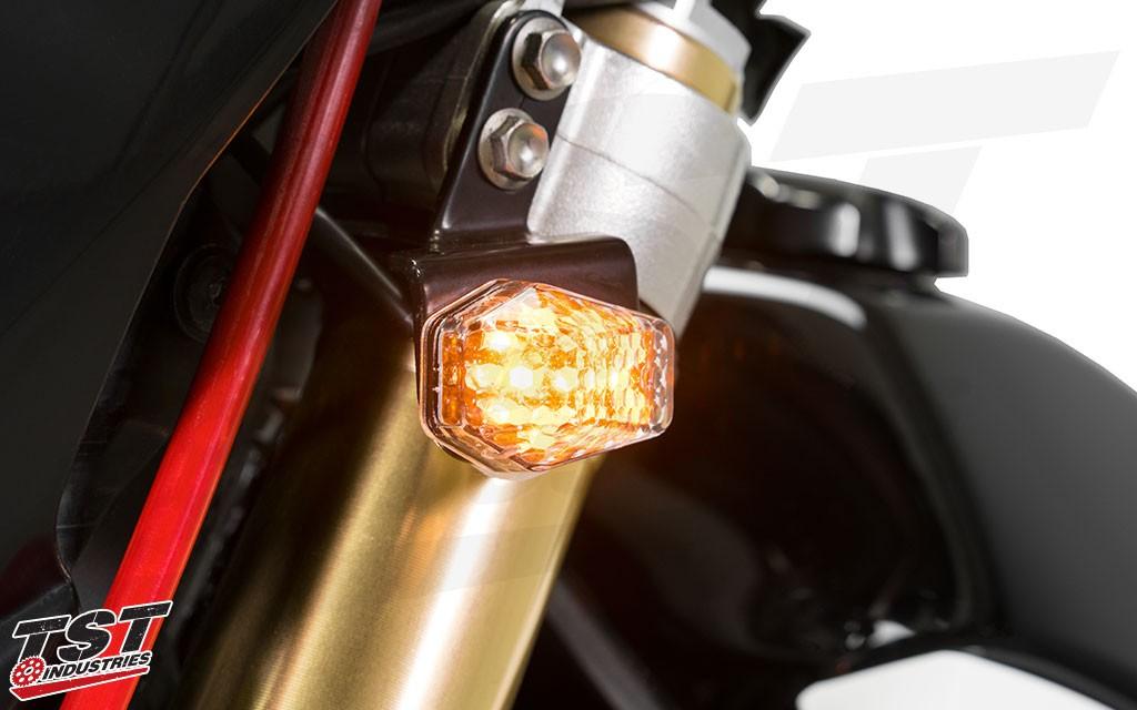 DRZ Front LED Flushmount Indicators.