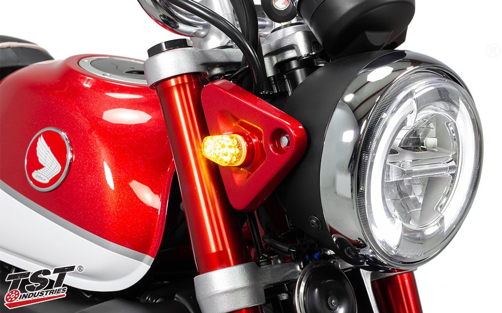 TST LED Front Flushmount Turn Signals for Honda Monkey 2019+