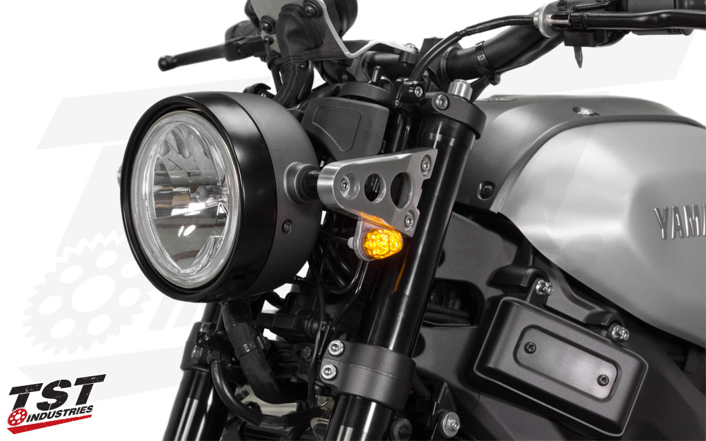 TST LED Front Flushmount Turn Signals on the 2016+ XSR900.