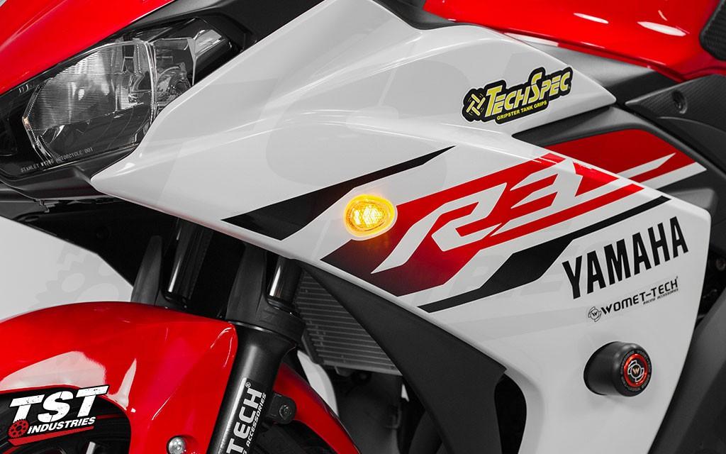 Yamaha R3 Halo-GTR LED Front Flushmount signals