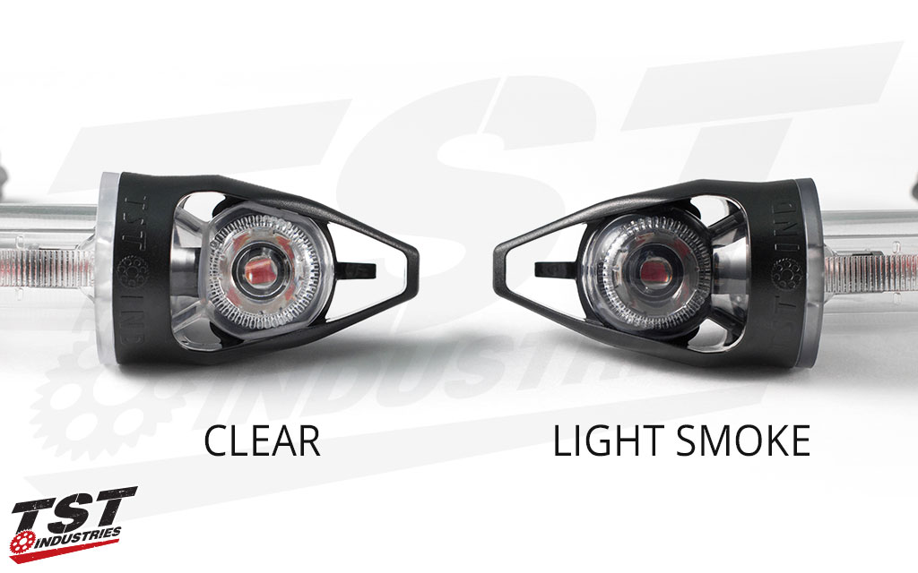 Clear versus light smoke lens. - NON BLEMISHED UNIT SHOWN