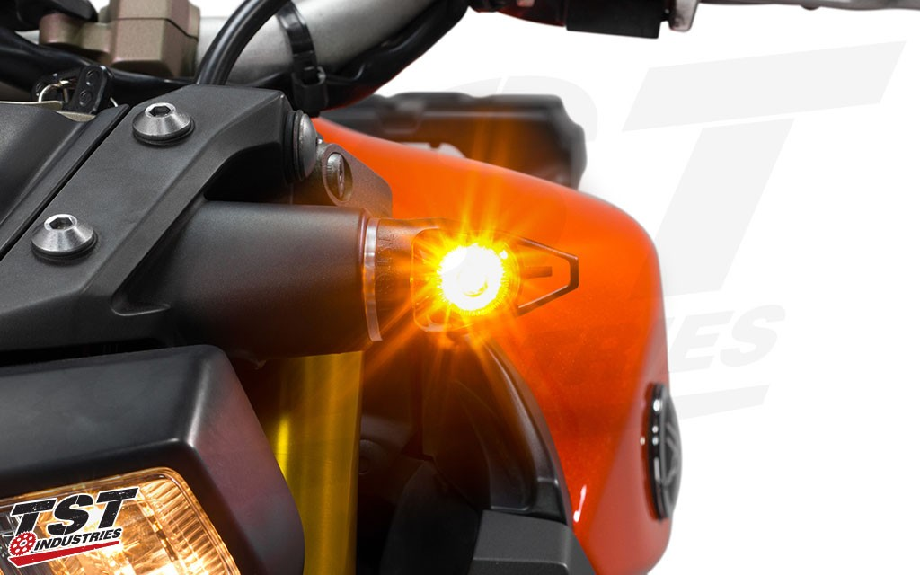Tst Mech Gtr Front Led Turn Signals For Select Fzmt Yamaha Models