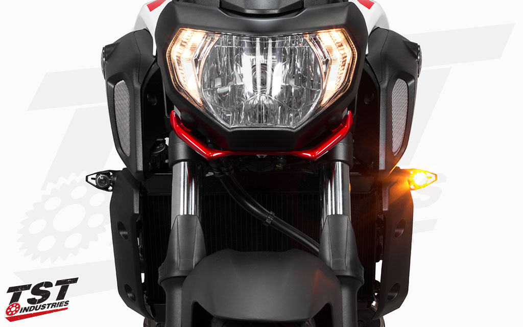 Demand attention while on the road with the TST MECH-GTR LED Front Turn Signals.