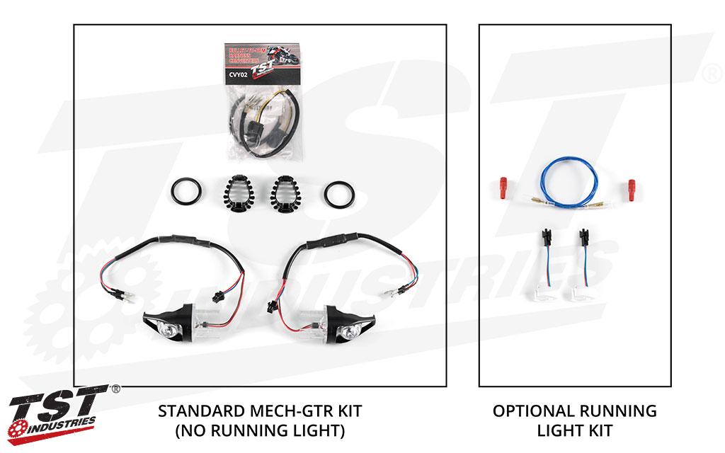 TST MECH-GTR Rear LED Turn Signals for Yamaha Niken 2018+ kit and options.