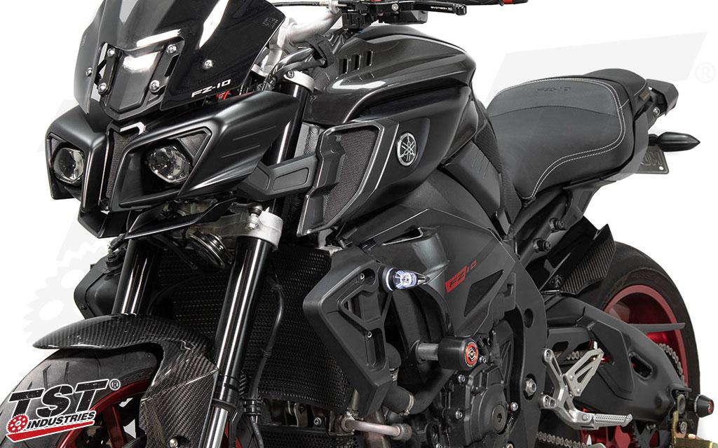 TST MECH-GTR Front LED Turn Signals for Yamaha FZ-10 / MT-10 2016+