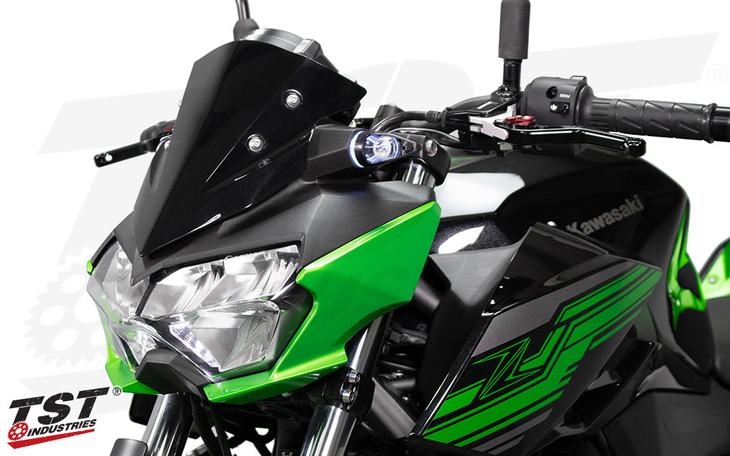 Upgrade your Kawasaki Z400 with brighter and more stylish turn signals by TST Industries.