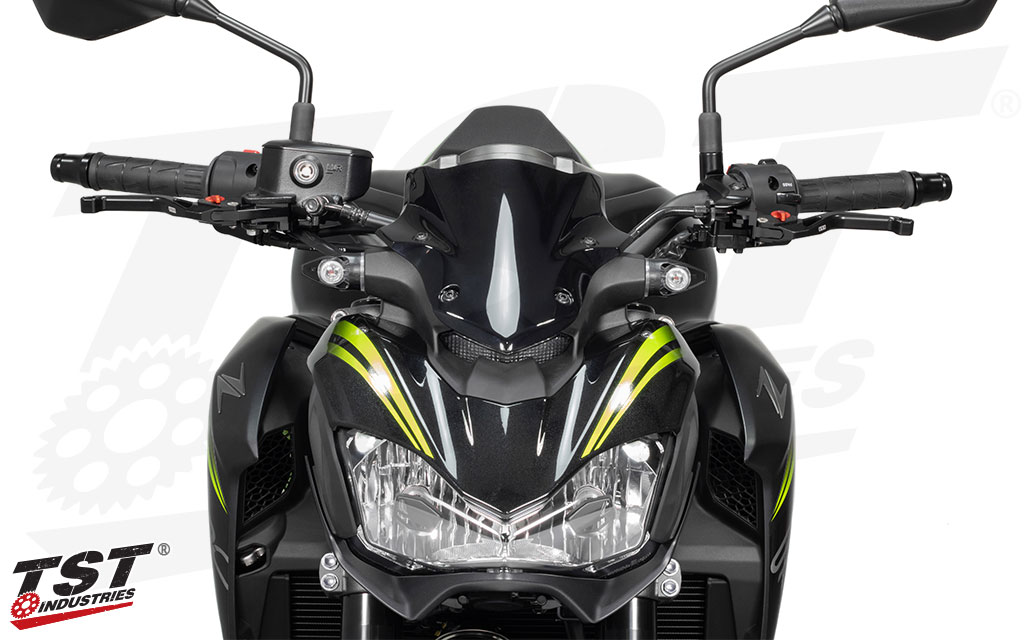 Designed to match the naked styling of the Kawasaki Z900.
