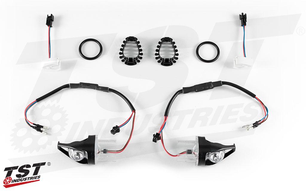 TST MECH-GTR Front LED Turn Signals for Yamaha FZ8