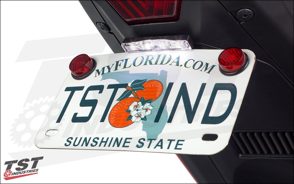 The TST Stealth License Plate Light will keep your plate visible at night.
