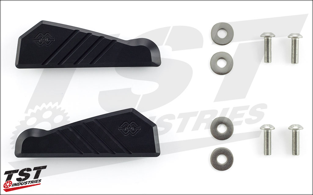 What's included in this 2015+ YZF-R1 passenger peg cover kit.