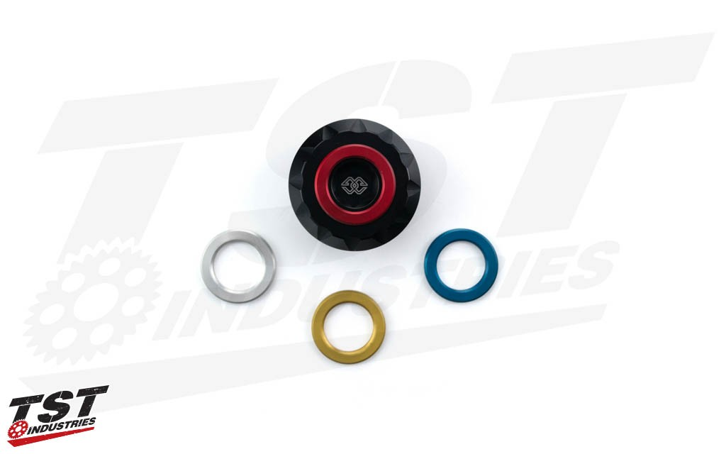 What's included in the Gilles Tooling Oil Filler Cap packaging.