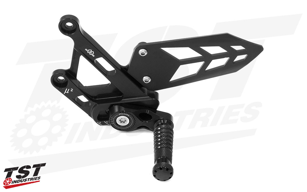 Shift side foot peg for this 2017+ FZ-10 / MT-10 rearset kit.