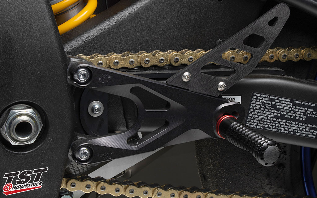 Gilles Tooling FXR Rearsets for the 2017+ Yamaha YZF-R6.