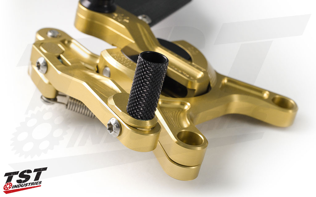 Gilles Tooling rearsets feature extreme attention to detail that aid in rider position and performance.