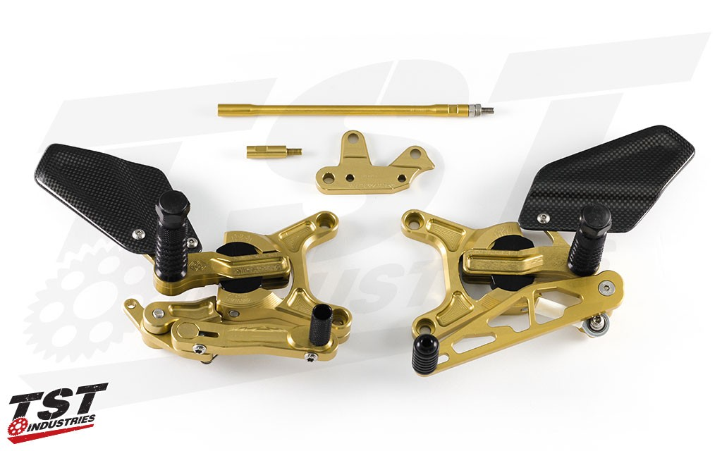 Gilles Tooling VCR38GT Rearsets for Kawasaki 2013-2018 ZX6R.