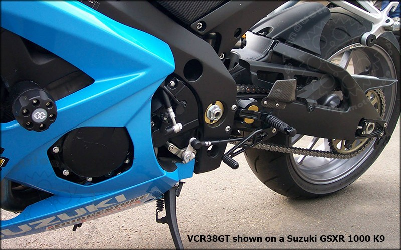 VCR38GT Shown on Suzuki GSXR