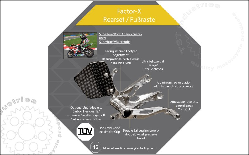 Gilles Tooling Factor-X Features