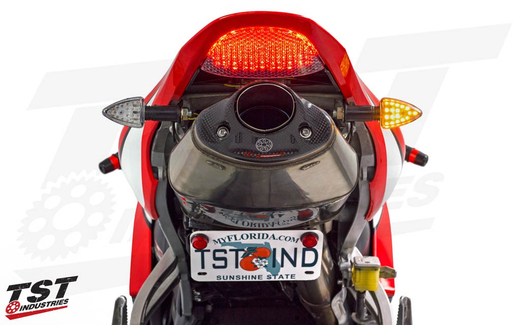 Give your Honda CBR the upgrade it deserves with bright TST LED Pod Signals.