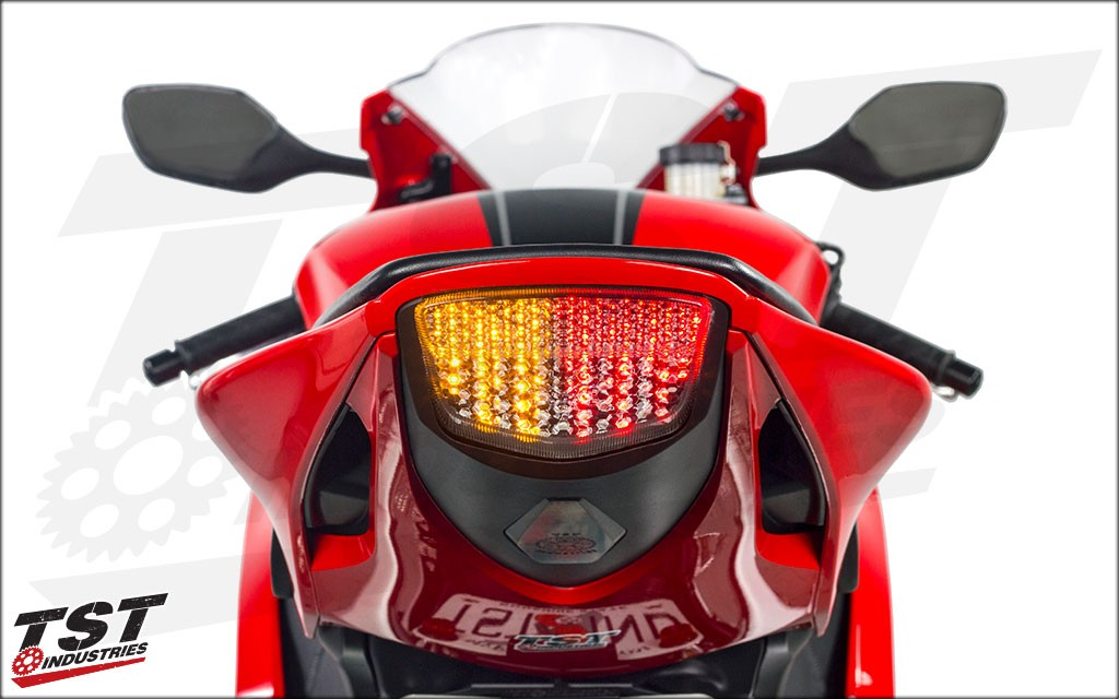 Built in signals clean up the rear of the CBR1000RR.