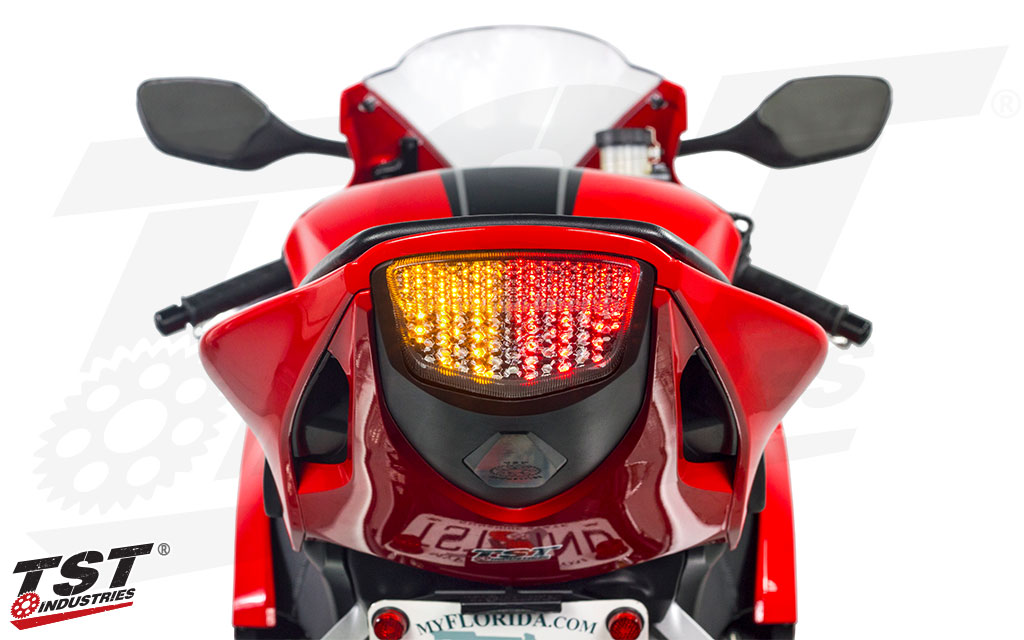 Led Tail Light HONDA 2008-2016 CBR1000RR Integrated Turn Signals Red Lens