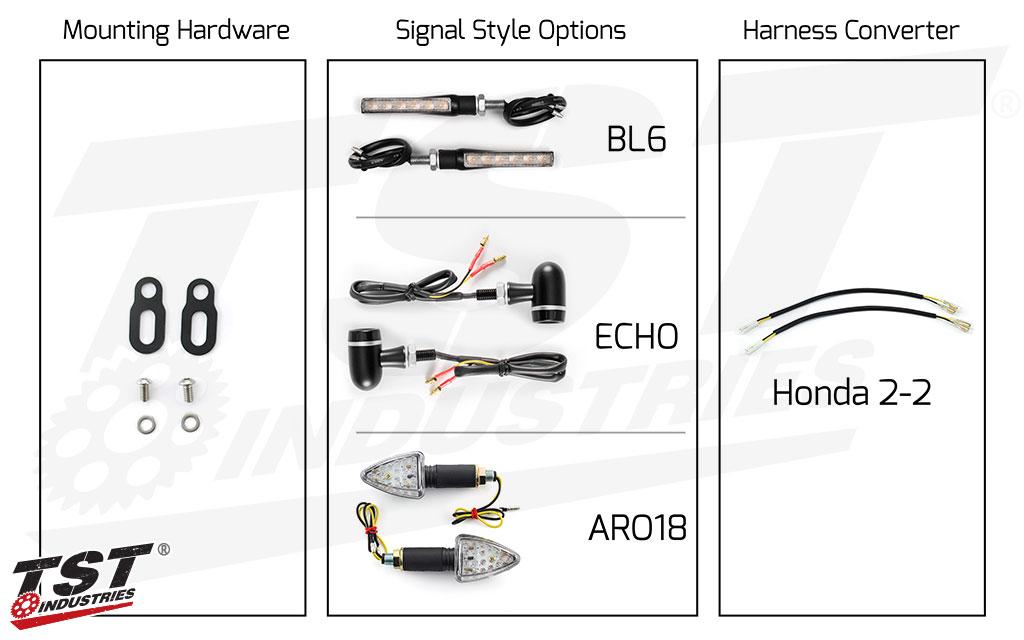 TST LED Rear Pod Turn Signal Bundle for Honda CBR600RR 2003+ and CBR1000RR 2004-2007.