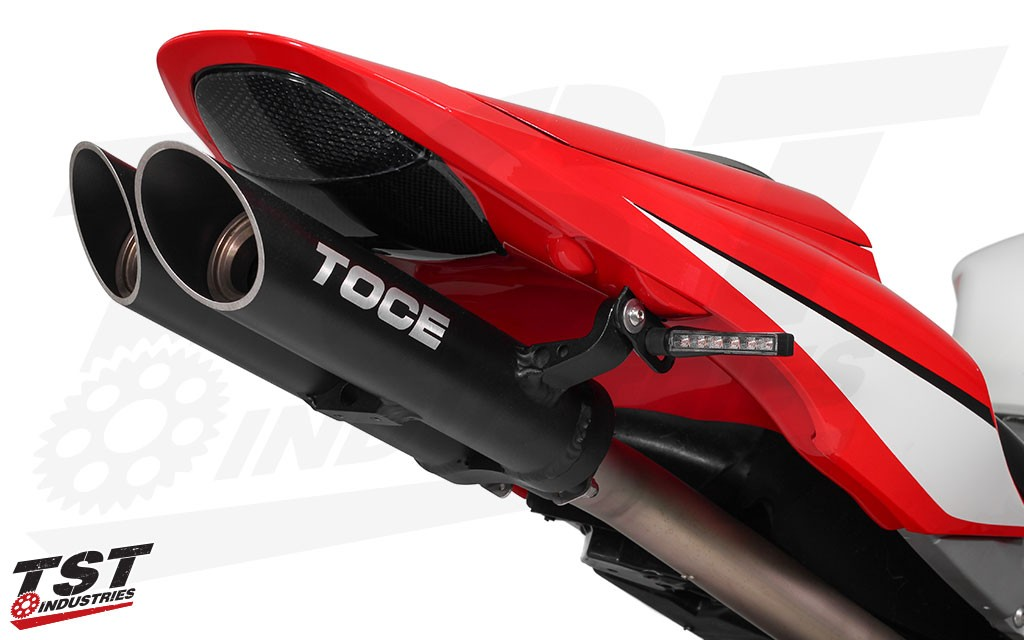 Not only improve the looks of your Honda CBR, but upgrade your visibility as well with super bright LED pod signals.