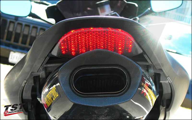 Installed with Akrapovic Exhaust.