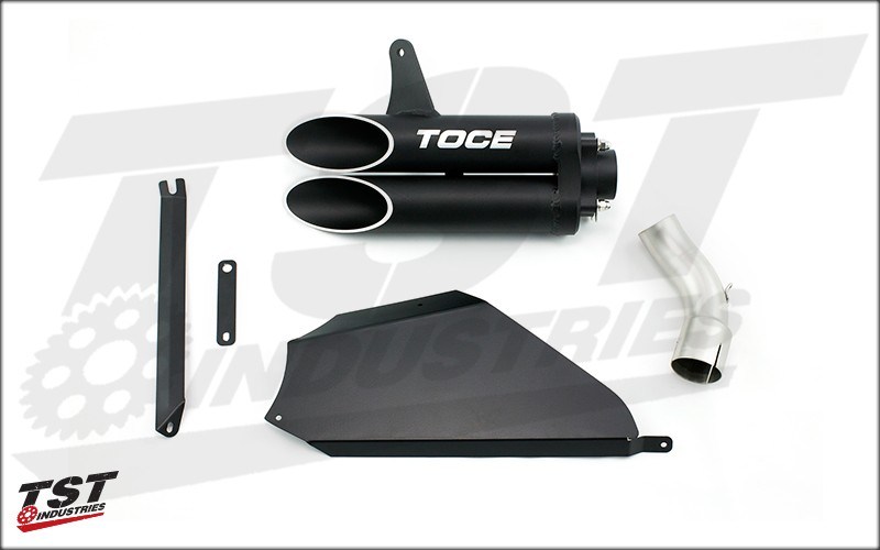 What&#39s included in the Toce T-Slash Exhaust slip-on for the 2008-2011 Honda CBR1000RR.