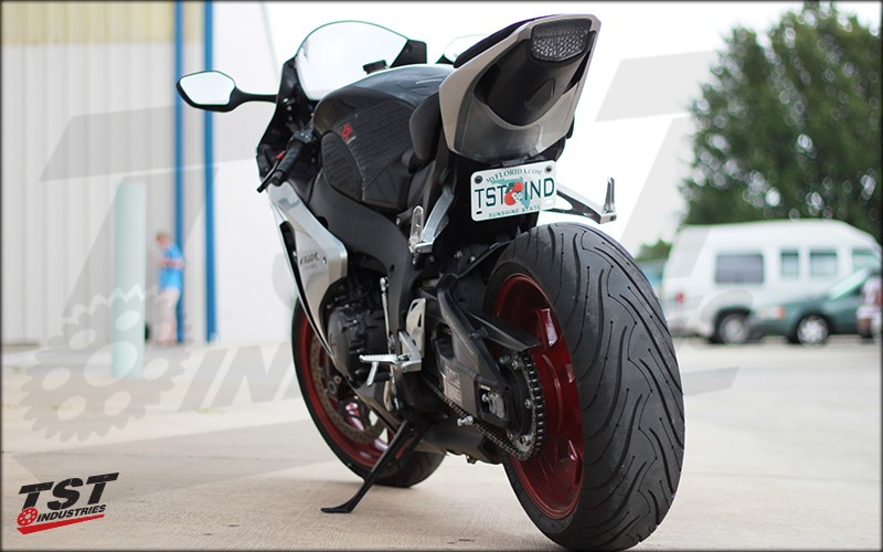 Honda CBR1000RR with the TST Undertail Kit installed.