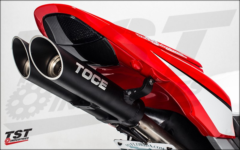 Toce T-Slash Exhaust on the CBR600RR.