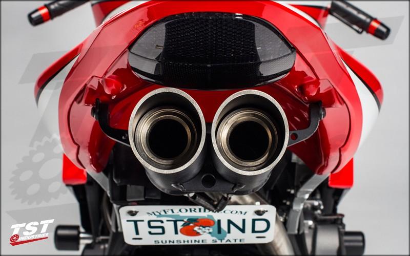 Toce T-Slash pipes and the TST Fender Eliminator.
