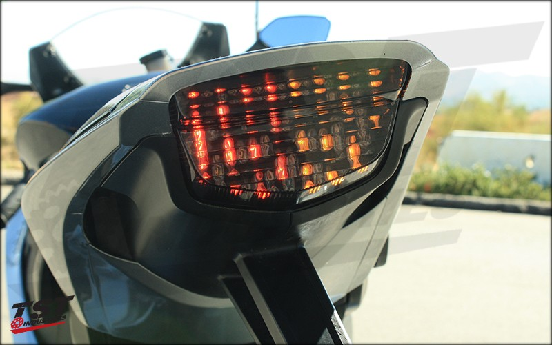 TST LED Integrated Tail Light features built in signals to provide a sleek and race-inspired look.