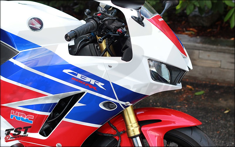 Smoked LED Flushmount Signals on 2013-2015 CBR600RR.