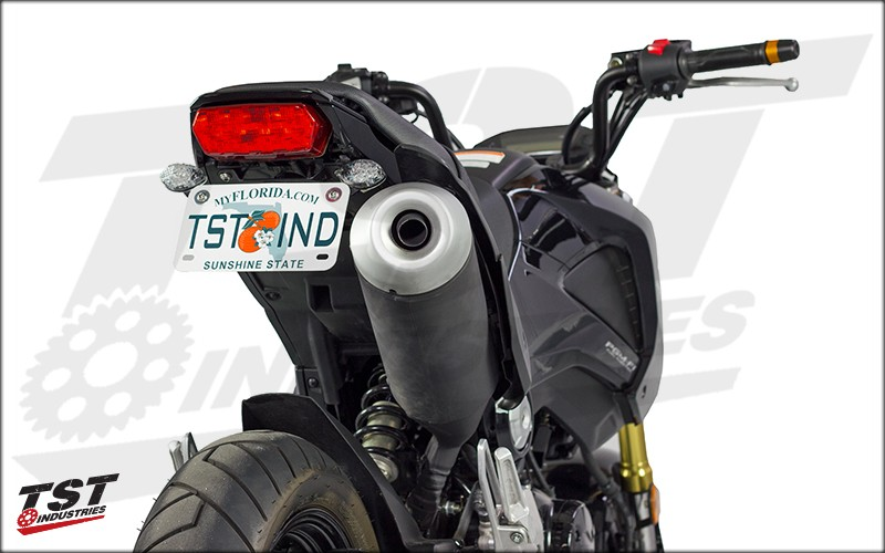 Grom Fender Eliminator (shown with optional Rear Signal Kit)